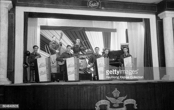The Blue Notes a jazz band formed by RAF servicemen Campania Italy circa 1945 The group was founded by Lee Underwood From a series of pictures taken...