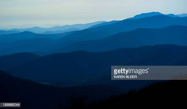 The Blue Ridge Mountains are seen from Skyline Drive in the Sheandoah Natioanl Park in Virginia on November 10 2012 Skyline Drive is a 105mile road...