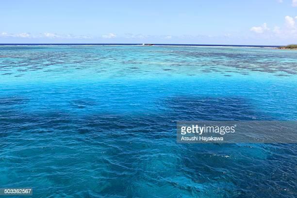 The blue sea in Guam