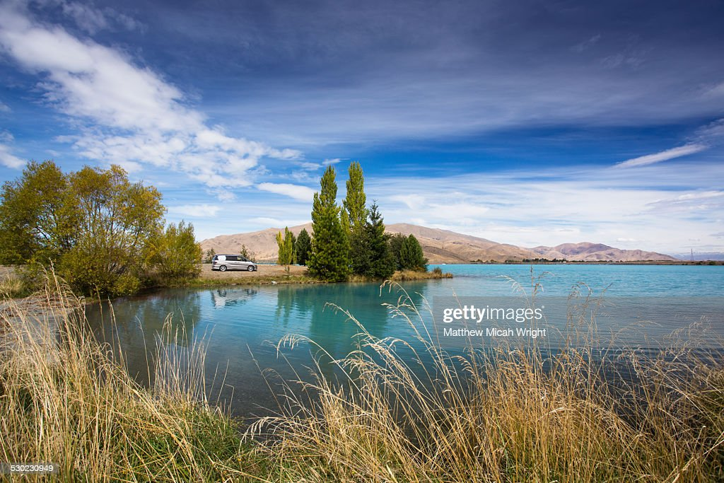 The blue waters of Lake Ruataniwha in Twizel.