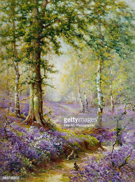 The Bluebell Wood by Alfred de Breanski