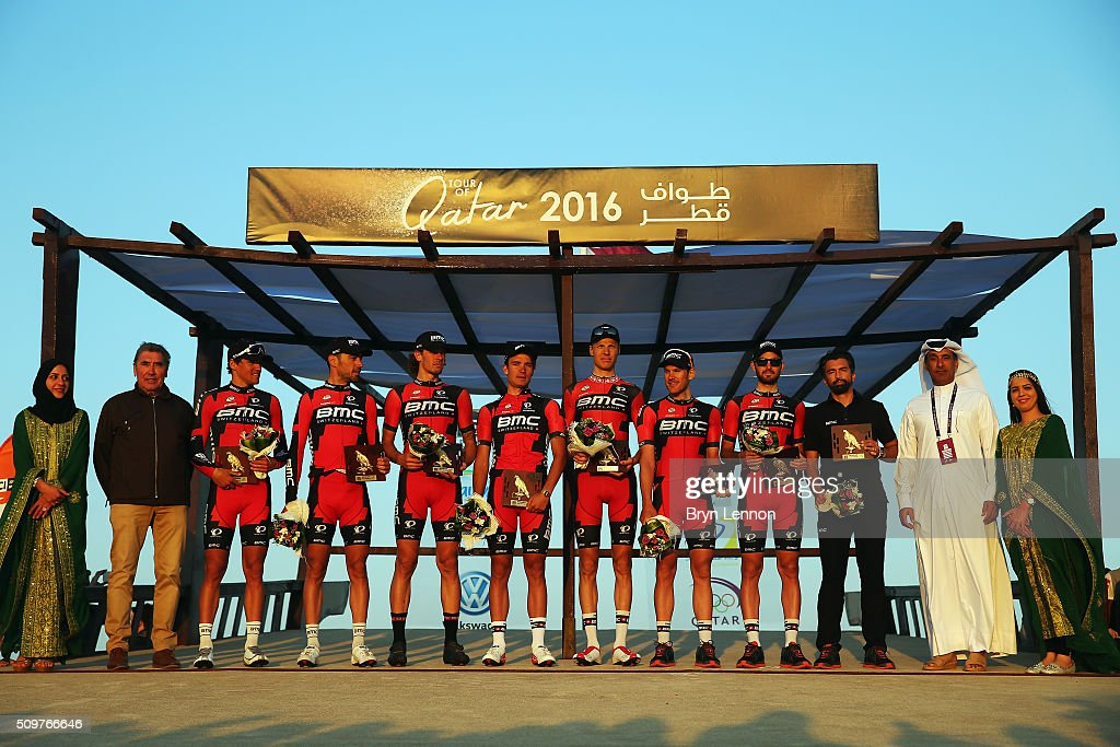 The BMC Racing Team won the best team award after stage five of the 2016 Tour of Qatar, a 114.5km road stage from Sealine Beach Resort to Doha Corniche, on February 12, 2016 in Doha, Qatar