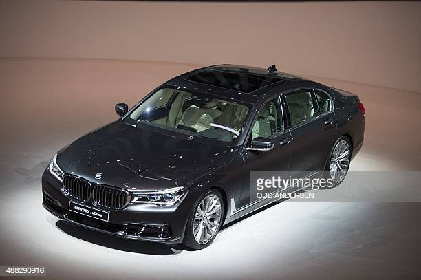 The BMW 750Li xDrive is seen as the company's new 7 series was presented at the 66th IAA auto show in Frankfurt am Main western Germany on September...