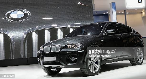 The BMW concept X 6 aktive hybrid car is seen during the pressdays of the 62nd International Motorshow IAA on September 11 2007 in Frankfurt Germany...
