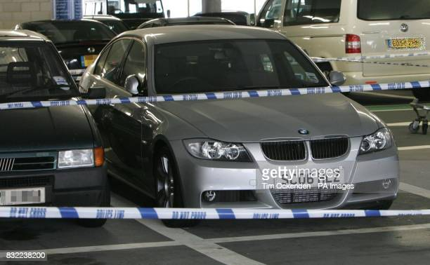 The BMW found at Heathrow wanted by police in connection with the discovery of bodies found in Cheadle Hulme Greater Manchester on Sunday night