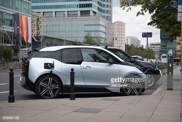 The BMW i3 electric car in Warsaw, Poland