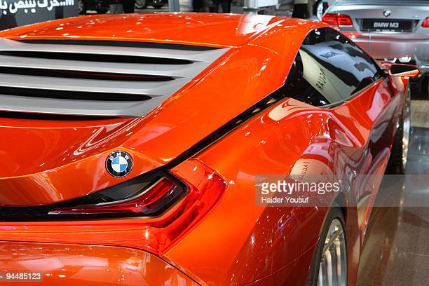 The BMW 'M1 Hommage' concept car makes its first motor show appearance at the 10th annual Dubai International Motor Show on December 15 2009 in Dubai...