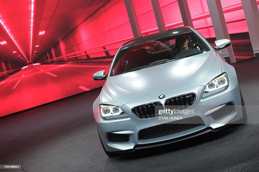 The BMW M6 Gran Coupe is introduced at the 2013 North American International Auto Show in Detroit, Michigan, on January 14, 2013. AFP PHOTO/Stan HONDA