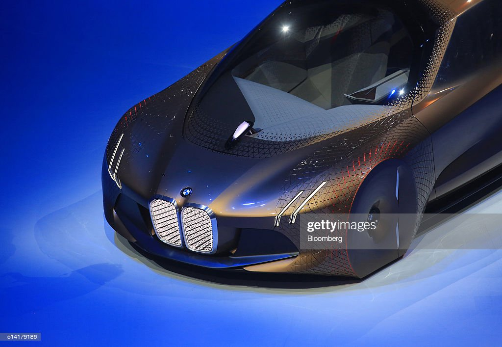 The BMW Vision Next 100 concept automobile is unveiled as Bayerische Motoren Werke AG celebrates its 100th anniversary in Munich Germany on Monday...