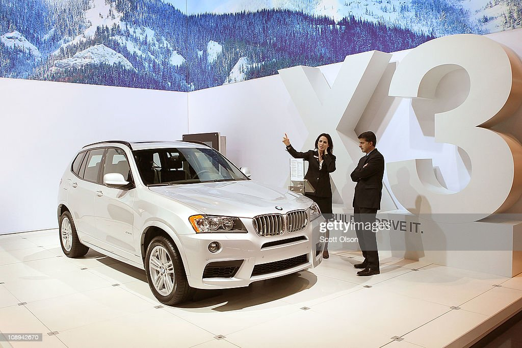 The BMW X3 is displayed at the Chicago Auto Show at McCormick Place on February 9, 2011 in Chicago, Illinois. The show opened for media previews today and is open to the general public February 11.