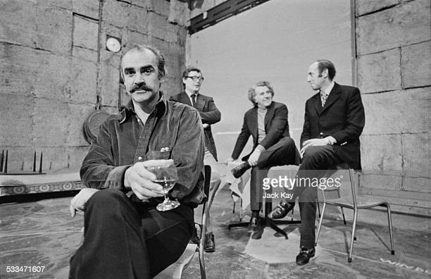 The board of directors for Tantallon Films Scottish actor Sean Connery Richard Hatton and film producers Denis O'Dell and Stanley Sopel 28th March...