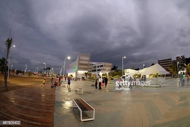 The boardwalk to the beach of Las Palmas on 9 August 2016 They are gone disorder and chaos that prevailed in the spa town Today in that place a...