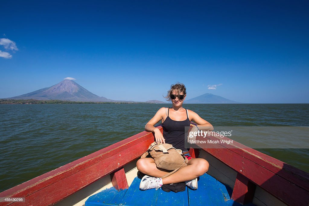 The boat to the volcanic island of Ometepe.