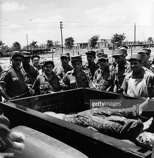 The bodies of some of those who participated in the illfated Bay of Pigs invasion of Cuba
