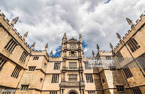 The Bodleian Library at the University of Oxford in Great Britain in June