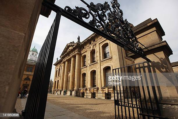 The Bodleian Library's Clarendon Building on March 22 2012 in Oxford England