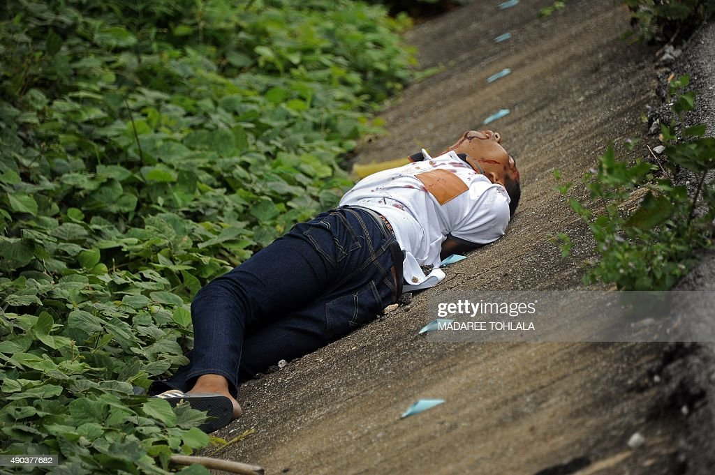 Image result for image of man dead body on road