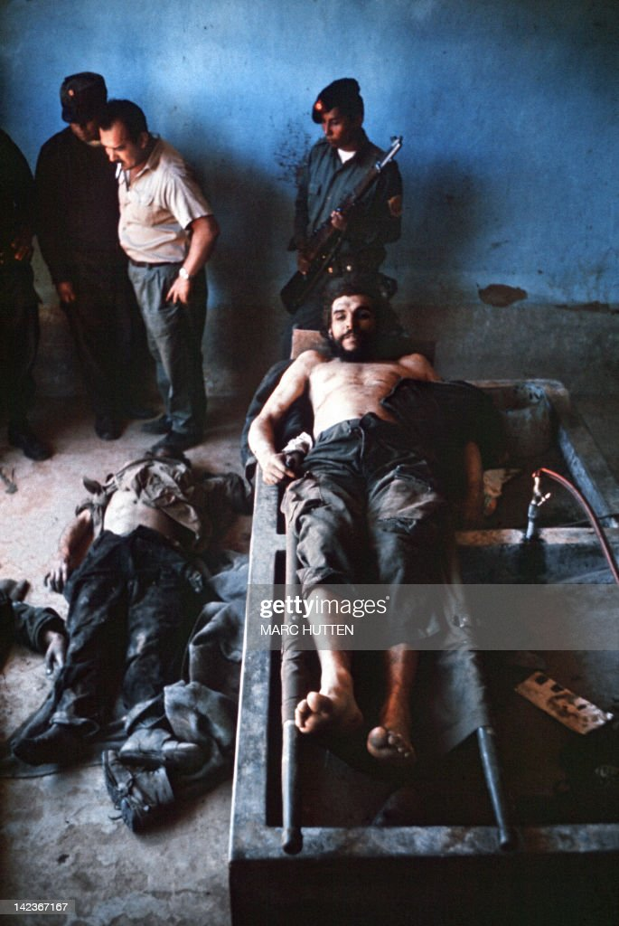 His body was put on public display in Bolivia the day after he was assassinated on 9th October 1967