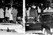 The body of gunned down Mafia boss Paul Castellano lies on 46th St outside Sparks Steak House