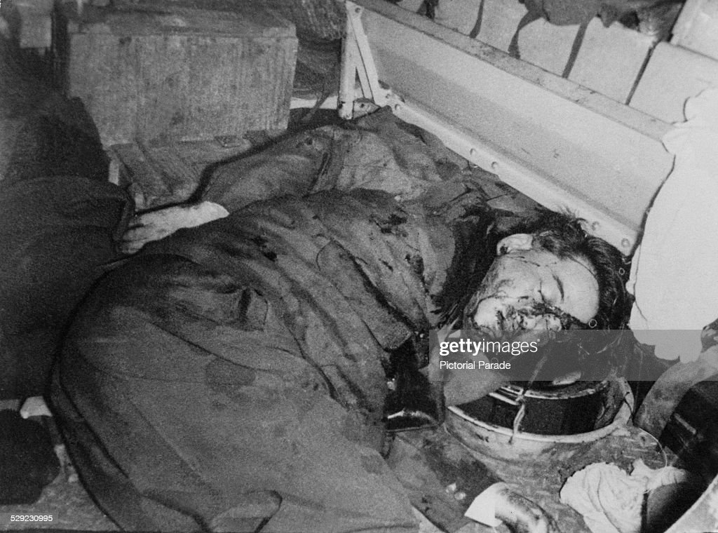 The body of Ngo Dinh Diem (1901 - 1963), former president of South Vietnam, in an armoured personnel carrier after his assassination in a CIA-backed coup led by General Duong Van Minh, Vietnam, 2nd November 1963.
