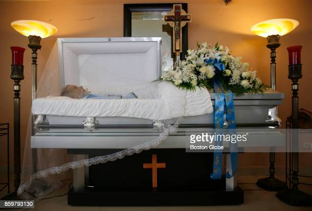 The body of Victor Ruiz Ramos is on display during his wake at Funeraria Hernandez in Corozal Puerto Rico on Oct 02 2017 After Hurricane Maria Ruiz...