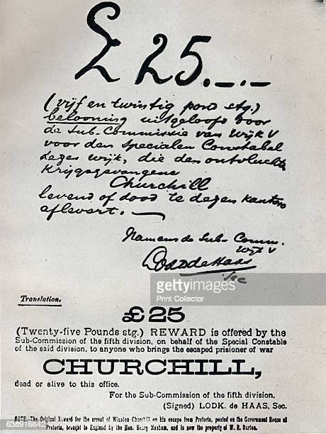 The Boers tried hard to recapture him' Churchill was captured during the Boer War He had only been in captivity about four weeks when he escaped on...