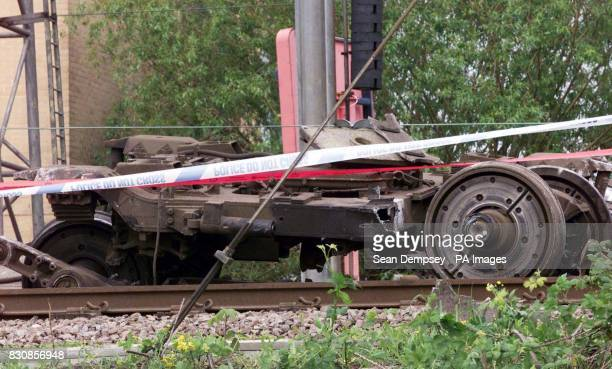The bogey ripped from the rear carriage that was derailed at Potter's Bar station Hertfordshire Railtrack said it was not aware that there had been...