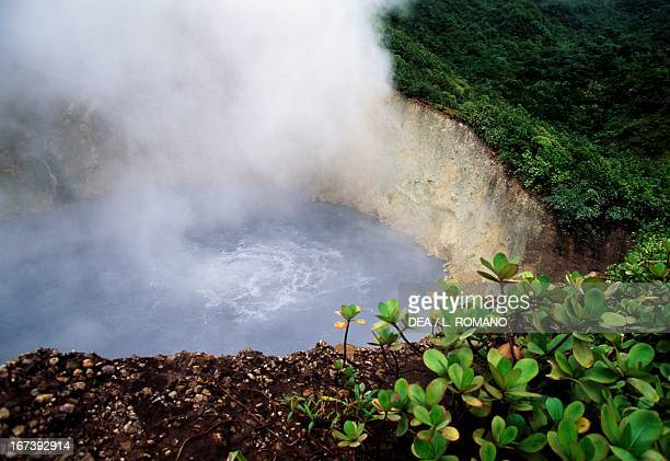 The Boiling Lake lake which is is a flooded volcanic fumarole Morne Trois Pitons National Park Dominica