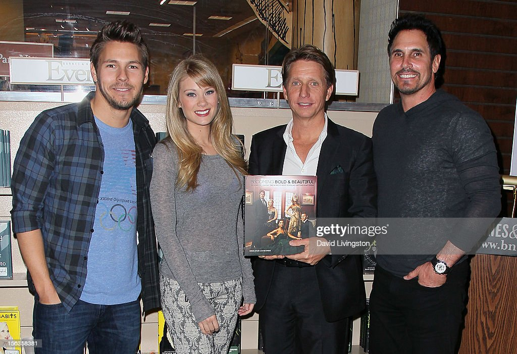 'The Bold and the Beautiful' cast members Scott Clifton and Kim Matula, executive producer Bradley Bell and cast member Don Diamont attend a signing for 'Becoming Bold & Beautiful' at Barnes & Noble bookstore at The Grove on November 13, 2012 in Los Angeles, California.
