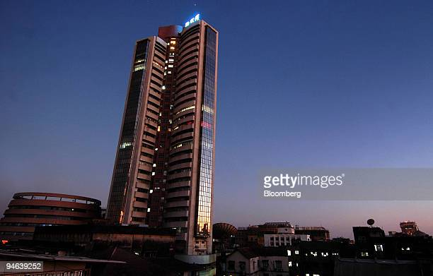 The Bombay Stock Exchange building stands in Mumbai India on Saturday Feb 3 2007 Indian stocks rose headed for a record after US consumer spending...