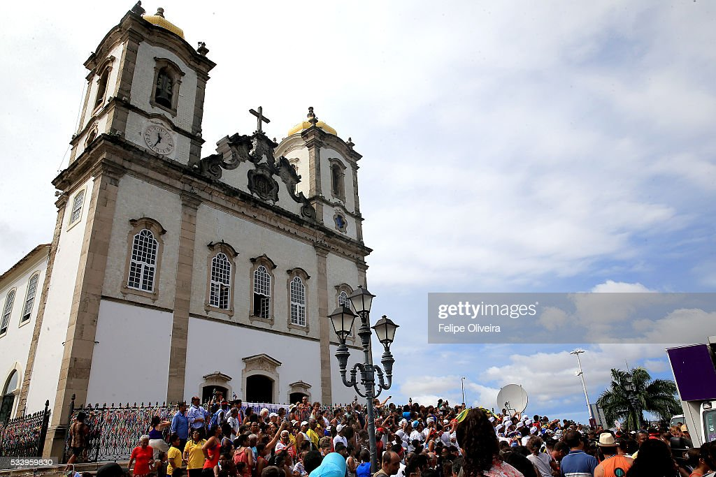 The Bonfim Church, on May 24, 2016 in Salvador, Brazil.