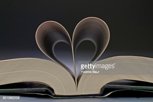 The Book Heart : Stock Photo