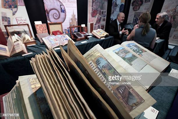 The 'Book of Hours of Luis de Laval pictured at the 2015 Frankfurt Book Fair on October 15 2015 in Frankfurt am Main Germany The 2015 fair which is...