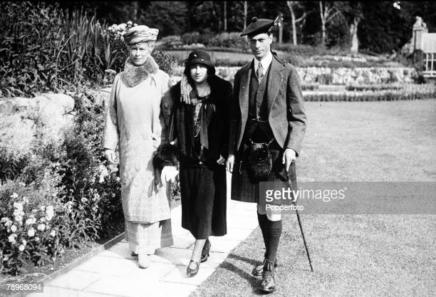 The Book Volume 1 Page 27 Picture 1 Queen Mary with the Duke and Duchess of York later King George VI and the Queen Mother