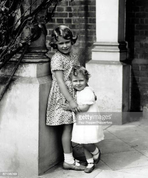 The Book Volume 1 Page Picture 12th August 1932 A picture of a young Princess Elizabeth later Queen Elizabeth II and her sister Princess Margaret