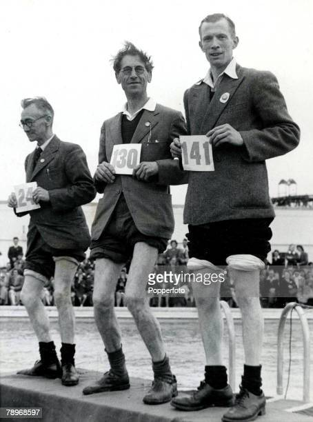 The Book Volume 1 Page Picture 1940s Competitors take part in the Knobbly Knees competition at Butlins Holiday camp