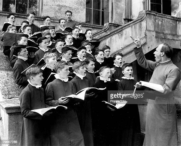 The Book Volume 1 Page Picture The Coronation Choirboys rehearsing at Addington Palace Croydon