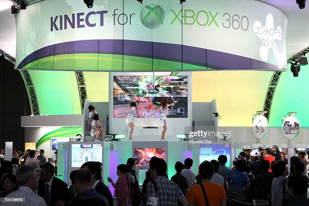 The booth for Microsoft Corp. is seen during the Tokyo Game Show 2010 at Makuhari Messe on September 16, 2010 in Chiba, Japan. The computer and video game convention, which will be held until September 19, features exhibitions of upcoming game software and hardware from 194 companies and organizations to draw business visitors and the general public.