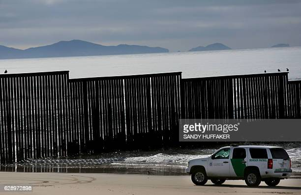 The border fence is seen during the 23rd Posada Sin Fronteras where worshipers gather on both sides of the USMexican border fence for a Christmas...