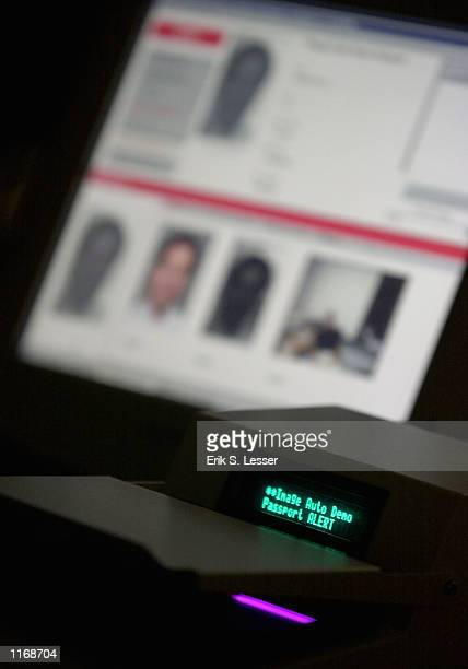The BorderGuard device manufactured by Imaging Automation is demonstrated October 17 2001 at the IATA's AVSEC 2001 Symposium in Atlanta GA The device...