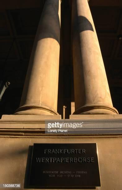 The Borse ( stock exchange ) was built in 1874, Frankfurt