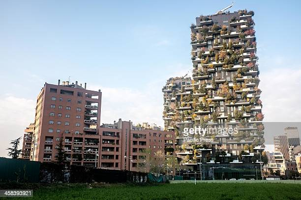 The Bosco Verticale buildings in autumn in Porta Nuova complex The complex is an 11story office building Its height is 111 meters and 76 meters that...