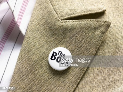 'The Boss' button badge : Stock Photo