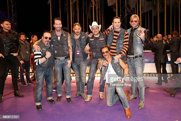 The BossHoss poses on the red carpet prior the Echo award 2014 on March 27 2014 in Berlin Germany