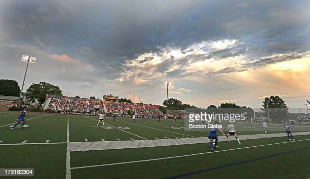 The Boston Breakers take on the Seattle Reign at Dilboy Stadium in Somerville