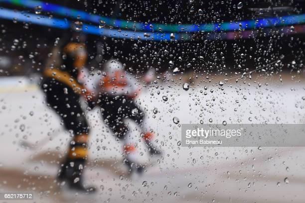 The Boston Bruins against the Philadelphia Flyers at the TD Garden on March 11 2017 in Boston Massachusetts