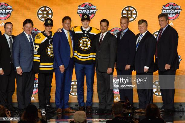 The Boston Bruins select defenseman Urho Vaakanainen with the 18th pick in the first round of the 2017 NHL Draft on June 23 at the United Center in...