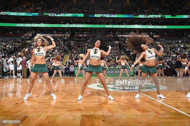 The Boston Celtics dance team performs during a game against the Charlotte Hornets on January 5 2015 at the TD Garden in Boston Massachusetts NOTE TO...
