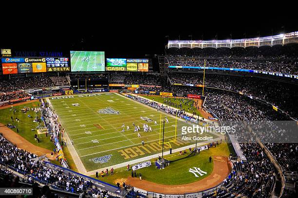 The Boston College Eagles and Penn State Nittany Lions compete in the 2014 New Era Pinstripe Bowl at Yankee Stadium on December 27 2014 in the Bronx...