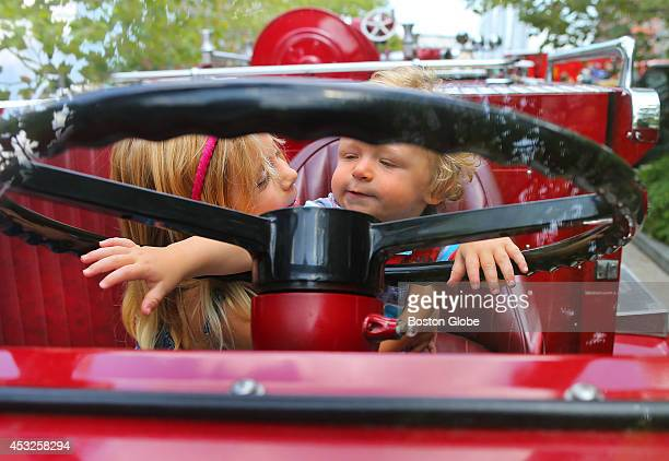 The Boston Fire Museum along with Boston Sparks held a 'touch a truck' day at the Rose Kennedy Greenway where several vintage firetrucks were there...